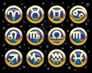 Signos del Zodiaco: Aries Tauro Géminis Cáncer Leo Virgo Libra Escorpio Sagitario Capricornio Acuario Piscis.